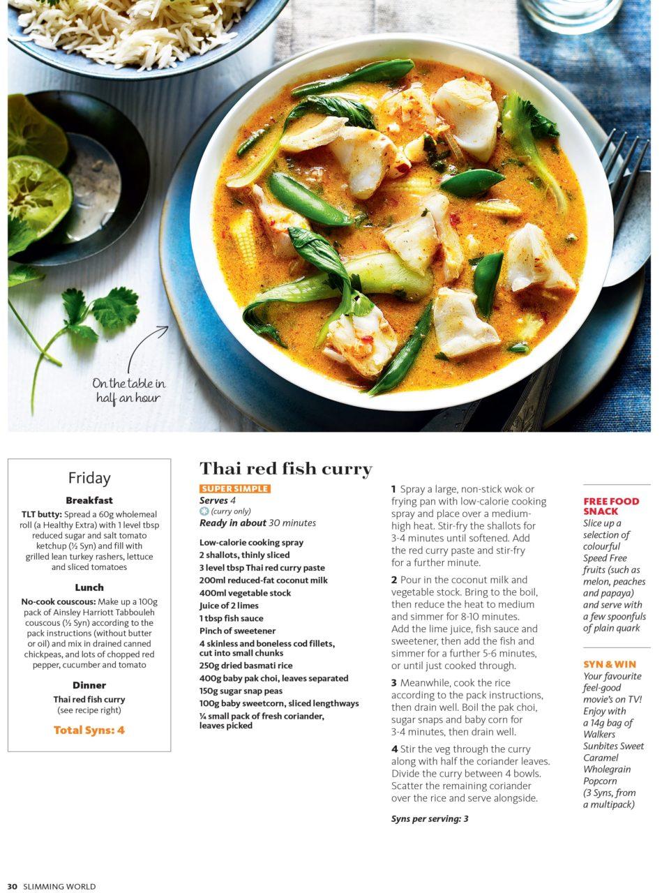 7 Day Eating Plan Slimming World Magazine Kris Kirkham